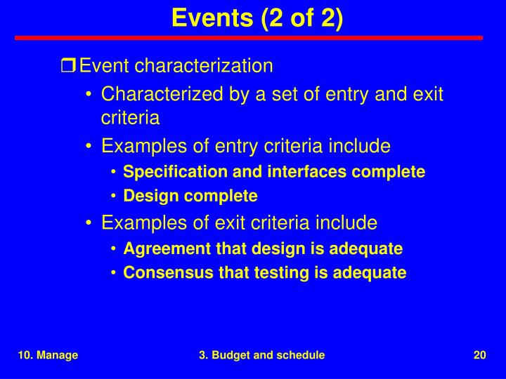 Events (2 of 2)