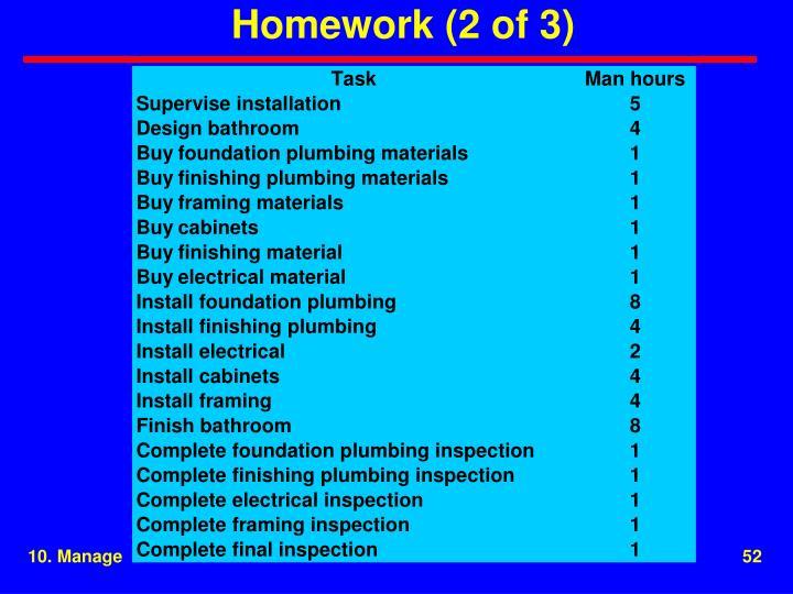 Homework (2 of 3)