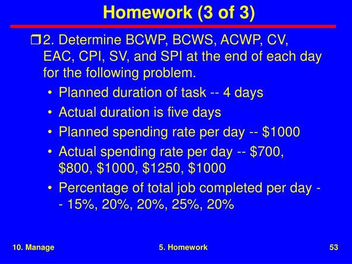 Homework (3 of 3)