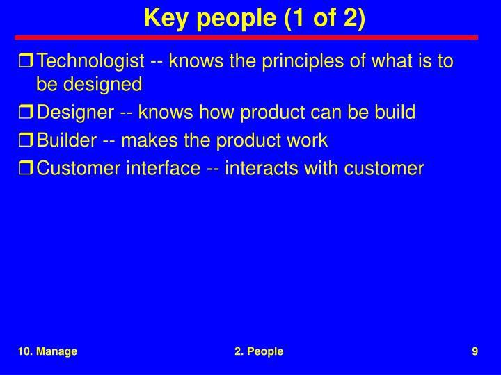 Key people (1 of 2)