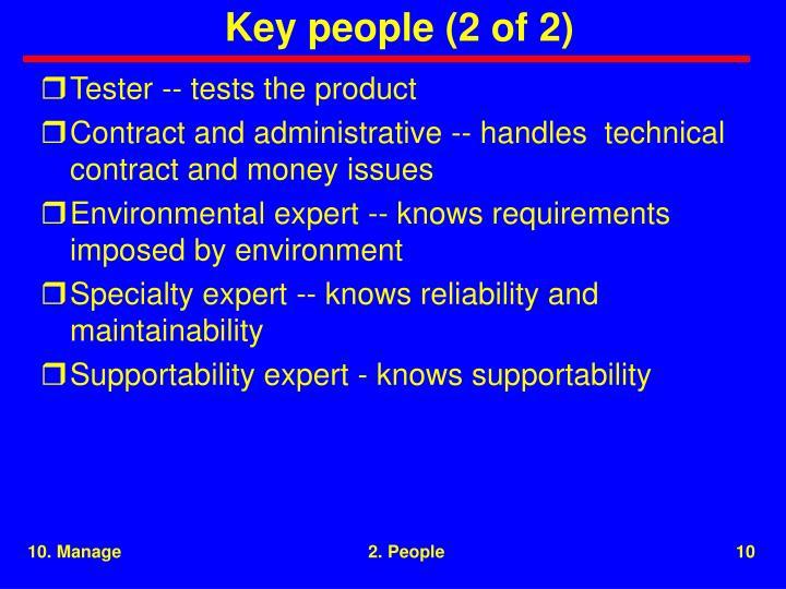 Key people (2 of 2)