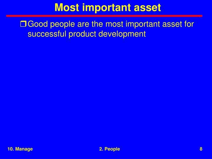 Most important asset
