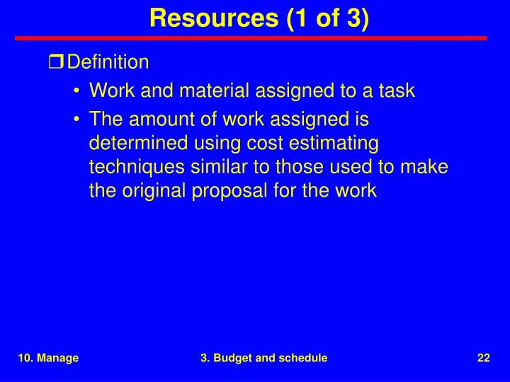 Resources (1 of 3)