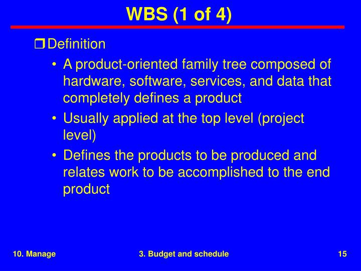 WBS (1 of 4)
