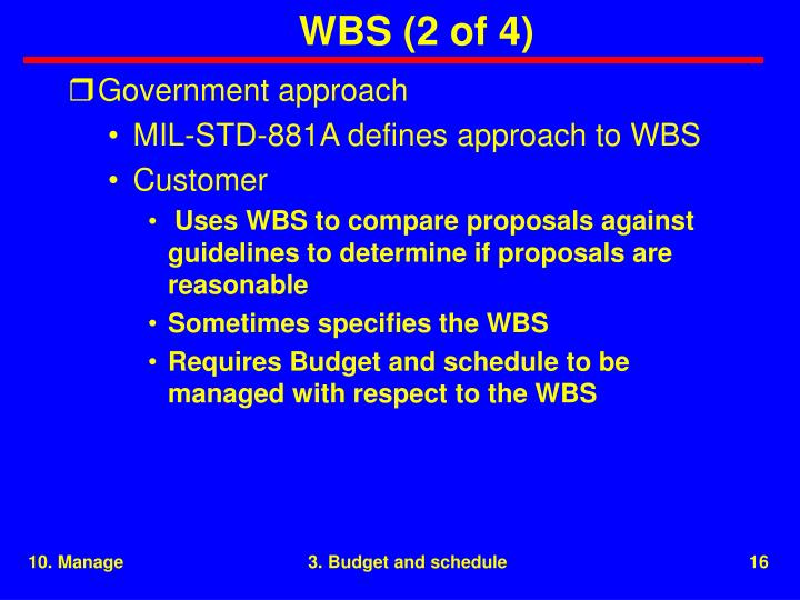 WBS (2 of 4)