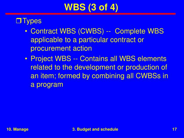 WBS (3 of 4)