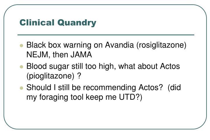 Clinical Quandry