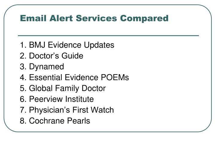 Email Alert Services Compared
