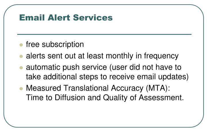 Email Alert Services