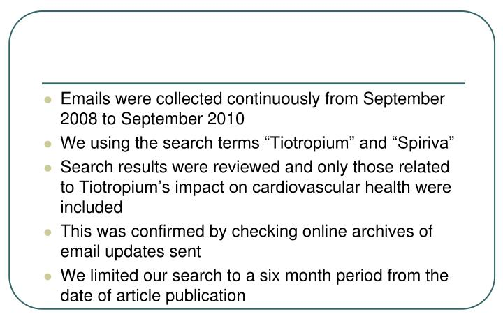 Emails were collected continuously from September 2008 to September 2010