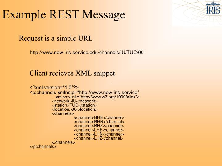 Example REST Message