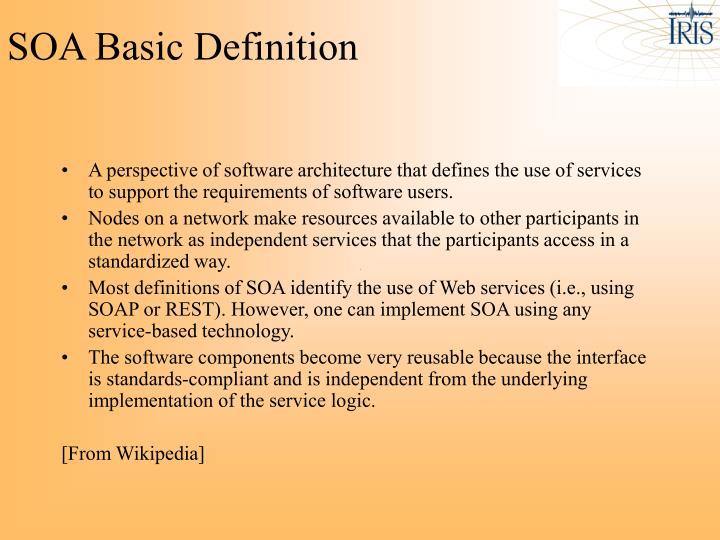 SOA Basic Definition