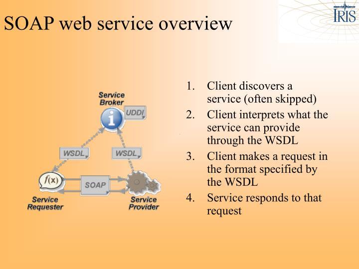SOAP web service overview