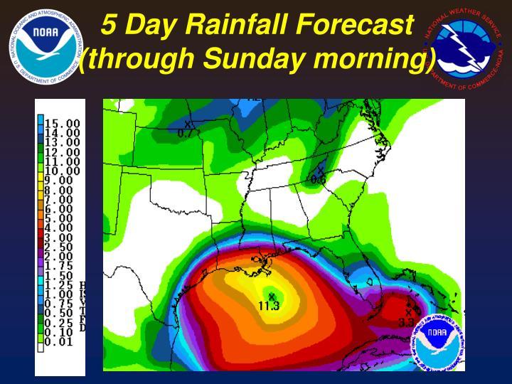 5 Day Rainfall Forecast