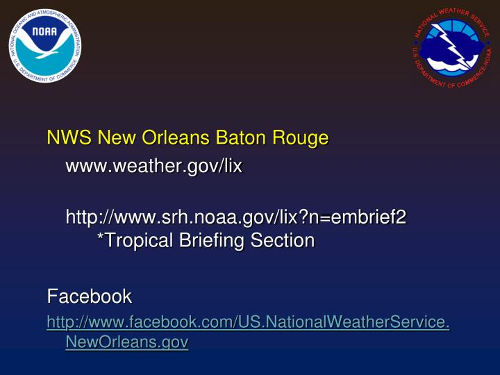 NWS New Orleans Baton Rouge