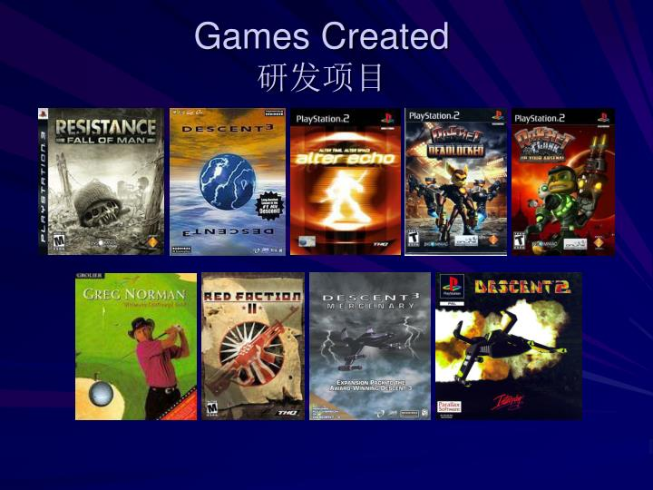 Games Created
