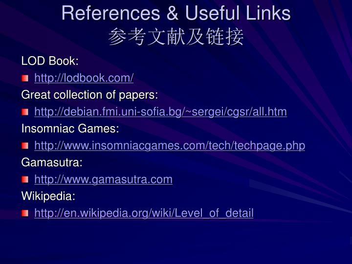 References & Useful Links