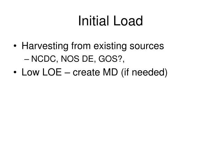 Initial Load