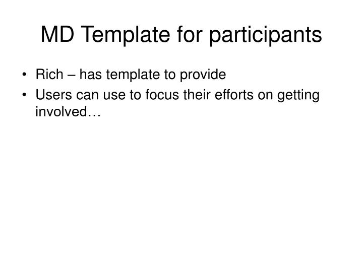 MD Template for participants