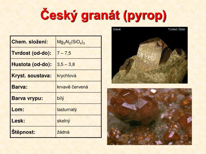 Český granát (pyrop)