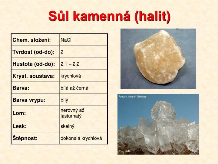 Sůl kamenná (halit)