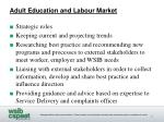 adult education and labour market