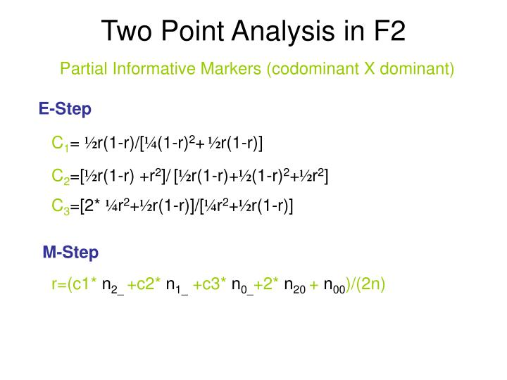 Two Point Analysis in F2