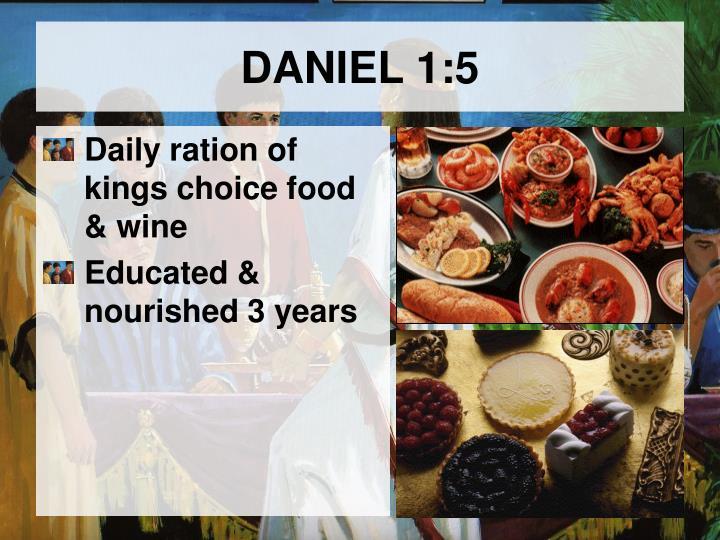DANIEL 1:5