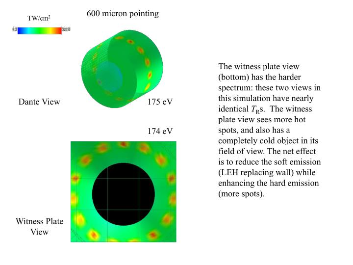 600 micron pointing