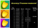 accuracy trueness measured