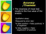 accuracy trueness