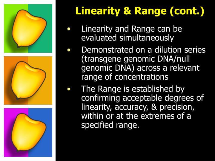 Linearity & Range (cont.)