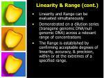 linearity range cont