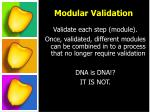 modular validation1