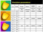 precision parameters