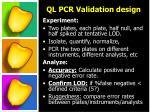 ql pcr validation design1