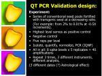 qt pcr validation design