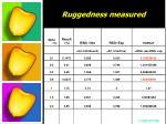 ruggedness measured