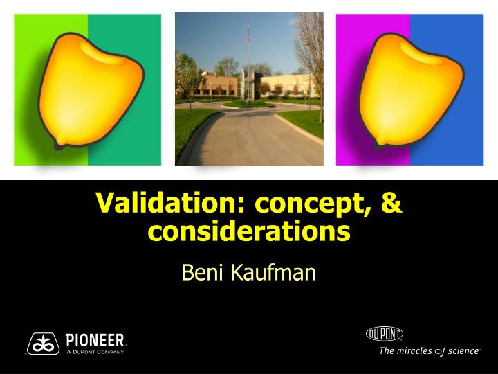 validation concept considerations