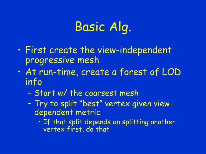 Basic Alg.