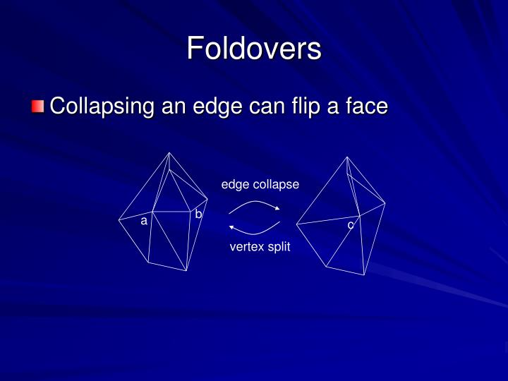 Foldovers