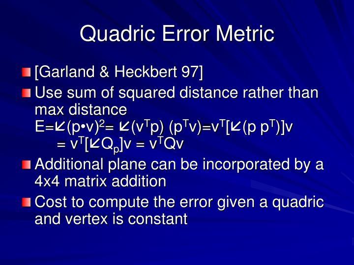 Quadric Error Metric