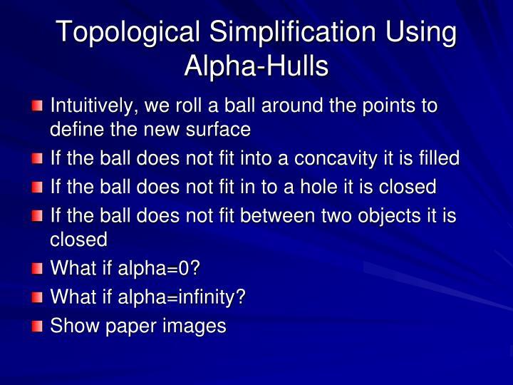 Topological Simplification Using Alpha-Hulls