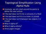 topological simplification using alpha hulls1