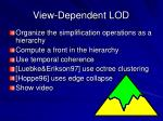 view dependent lod2