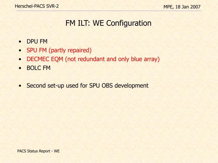 FM ILT: WE Configuration