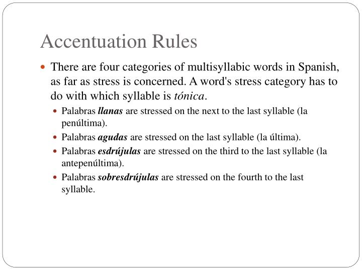 Accentuation Rules