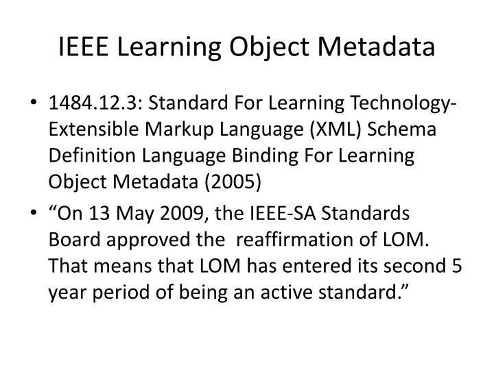 IEEE Learning Object Metadata