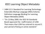 ieee learning object metadata