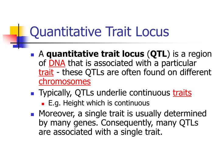 Quantitative Trait Locus